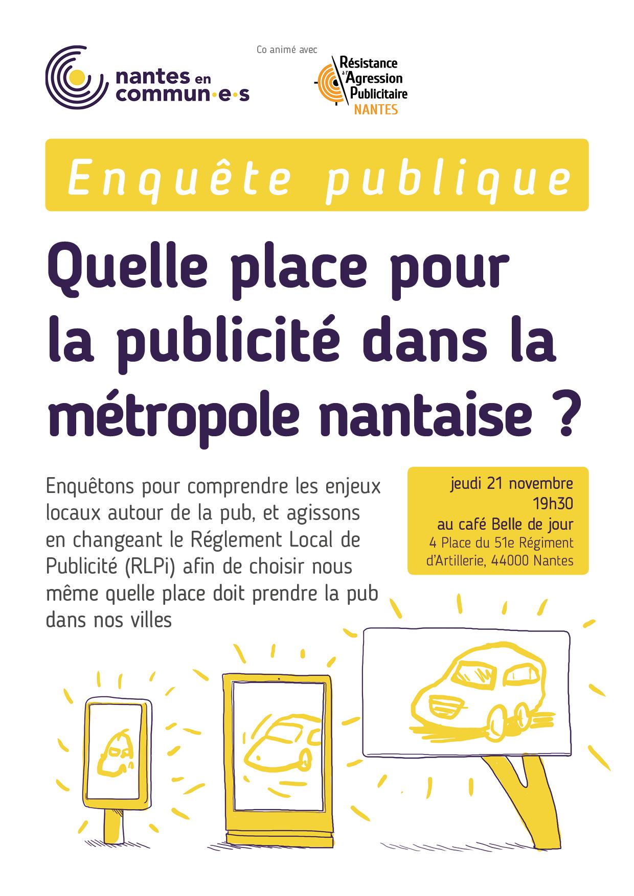 Enquête : quelle place pour la publicité dans la métropole nantaise ?