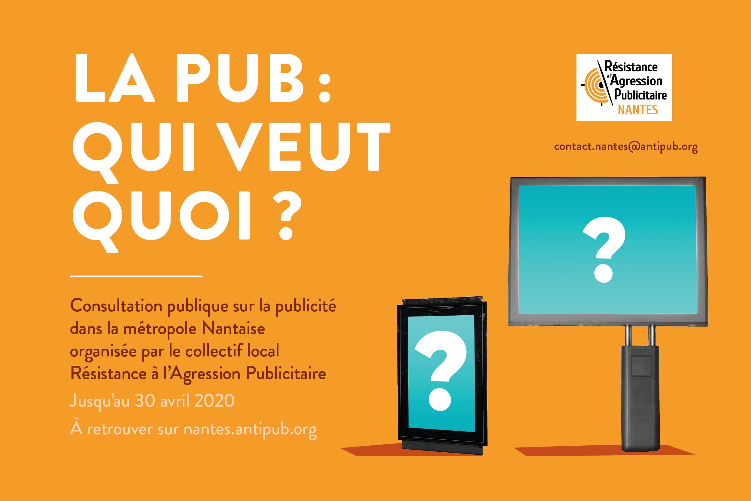 Consultation publique : ressenti sur la place de la publicité dans la métropole nantaise