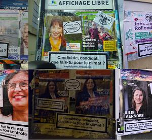Recouvrement publicitaire pour mettre le climat au cœur des élections dans les villes de la métropole de Nantes